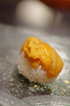 UNI, Sea Urchin Sushi|ウニ I just love this...so far the best is still to eat them in Japan..