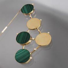 Taher Chemirik - Necklace gold, malachite, diamonds