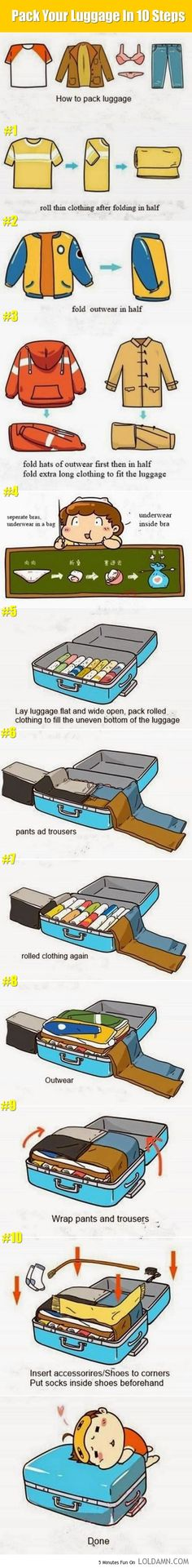 Preparing A Long Trip? Pack Your Luggage Like A Master In 10 Steps.