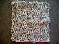 Square Textures Knitted Dish Cloth in Panorama (Kelsey's Mom)