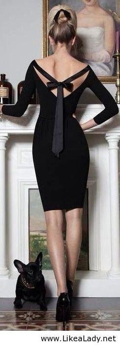Black dress for holidays
