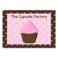 Polka Dot Pink and Brown Cupcake Business Cards. I love this design! It is available for customization or ready to buy as is. All you need is to add your business info to this template then place the order. It will ship within 24 hours. Just click the image to make your own!