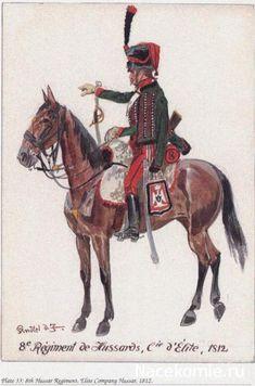 8e Régiment de Hussards, Compagnie d'élite 1812