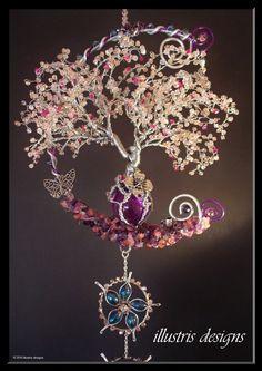 Escultura de alambre árbol del flor de cereza por illustrisdesigns