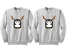 7defe06fe Penguin Couple Sweater, Couple Christmas Shirt, Penguin Christmas, Couple  Ugly Sweater, Matching Couple, Penguin Gifts, Couple Xmas Hoodies
