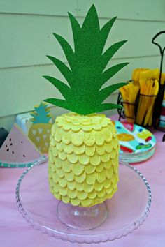 Pineapple Cake Topper | Tutti Frutti Birthday Party | Twotti Frutti | Tutti Fruity | Summer Party Ideas | 2nd Birthday Party | Luau Party