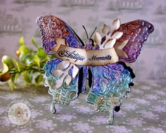 Lollyrot Scrapbooking: Sizzix Layered Butterfly die and texture fade.