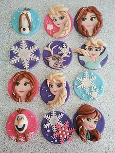 Disney Frozen cupcakes - For all your cake decorating supplies, please visit craftcompany.co.uk