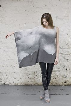 Whispers of the Mountains Silk Top by Ovate, featuring digital print by Krist Mort - S/S Kuolema Collection 2013 Nothing to say, but OOOOOh Grunge Goth, Diesel Punk, Dandy, Pinup, Fashion Prints, Fashion Design, Alternative Outfits, Mode Inspiration, Fashion Inspiration