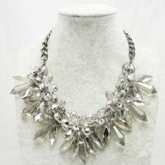 $14.53 Gorgeous Transparent Faux Crystal Pendant Alloy Necklace For Women