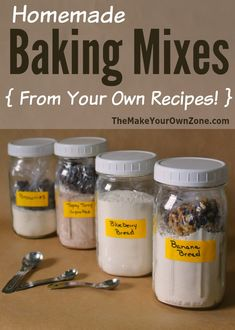 Homemade Baking Mixes here's the simple method I use to make your own baking mixes from recipes that are already your favorites is part of Homemade baking mix - Homemade Cake Mixes, Homemade Spices, Homemade Seasonings, Homemade Food, Homemade Things, Homemade Products, Homemade Recipe, Weight Watcher Desserts, Mason Jar Meals