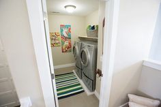 Floor Laundry Room - Contemporary - laundry room - Henry Walker Homes Alice Lane Home, New Construction, Second Floor, Henry Walker, Laundry Room, Improve Yourself, Home Appliances, Flooring, Cabinet
