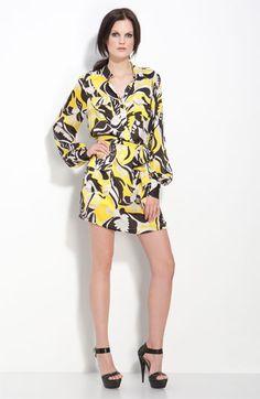 Rachel Zoe 'Murray' Floral Print Shirtdress