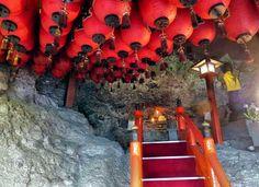 Inside the cave temple at Emonnotaki, Shodoshima.