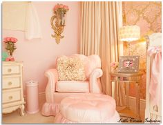 Glamour & Old Hollywood Baby Nursery - Design Dazzle