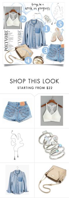 """""""Blue Girl"""" by patri-fachini ❤ liked on Polyvore featuring Levi's, Kendra Scott, Rachel Antonoff, Chanel and Madewell"""
