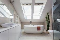 Large bathroom with Velux windows