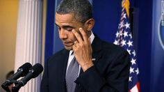 Obama wipes tears as he makes a statement in response to the shooting on Friday. #newtown #prayfornewtownpinterest