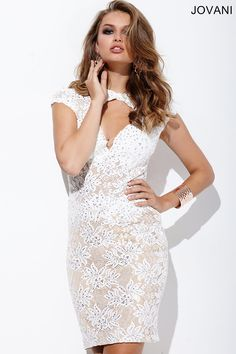 You will look like an angel in this #jovani 22895 lace and open back dress.