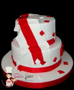 #dulceloren #riverplate #bandera #escudo #futbol #torta Pretty Cakes, Gabriel, Birthday Cake, Angel, Football, Desserts, Cake, Themed Cakes, Sweets