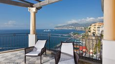 Guests in The Roccia Suite, in Sorrento, Italy, are treated to spectacular views of the Gu...