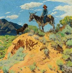 Walter Ufer, The Watcher, oil, 36 x 36. Estimate: $250,000-350,000.