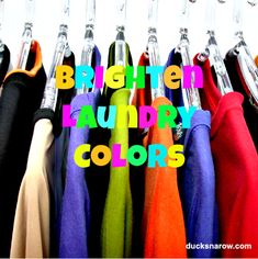 Ducks 'n a Row: How To Brighten Laundry Colors Naturally using table salt in the wash