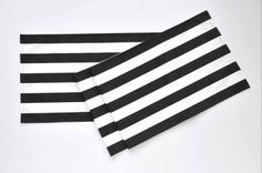 Black and White Table Runner w/ Black Stripes on by TwentyEight12