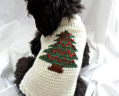 Really cute hand knit Christmas dog sweater. Only $20.00 too.