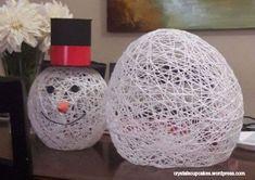Snowman Craft Yarn Head and Body