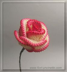 Big Rose by Claudia Giardina #crochetflower