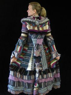 Recycled Sweater Elf Coat Pattern by Katwise
