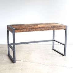 Wood: Reclaimed Hardwoods Wood Age: Years Old Wood Thickness: - Wood Origin: Northern Wisconsin Height: Depth: Length: Legs: Hand Welded Steel, Select Color from drop down menu Finish: Clear Matte VOC free finish Custom sizes available upon request! Reclaimed Wood Desk, Old Wood, Rustic Office Desk, Desk Cabinet, Industrial Desk, Desk With Drawers, Work Surface, Do It Yourself Home, Entryway Tables