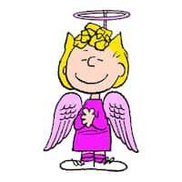 "Marmont Hill - ""Sally Angel Costume"" Peanuts Print on Canvas"