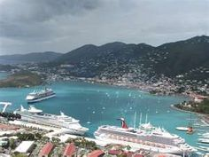 St Thomas- taken from the highest point on the island. Kind of the exact picture I took.