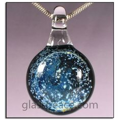Glass Galaxy Pendant by Glass Peace $20.95