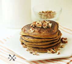 paleo pumpkin pancakes, by multiply delicious