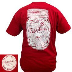 New Arkansas Razorbacks Hogs Mason Jar Perfection Girlie Bright T Shirt