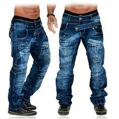 Da Uomo Designer Jeans Pantaloni Denim Star Vintage Hip men W 29 30 31 32 33 34 36 38