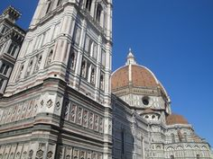 The bell-tower and the dome of the Santa Maria Novella cathedral in #Florence