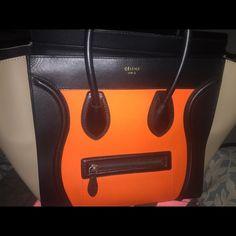 Celine Phantom Black Pebbled Leather Tote Bag Brand New with tags ...
