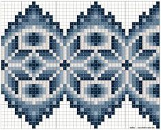 Bilderesultat for kvarde plattsøm Easy Knitting Patterns, Bead Loom Patterns, Knitting Charts, Beading Patterns, Embroidery Patterns, Cross Stitch Borders, Cross Stitch Patterns, Beaded Ornaments, Bargello
