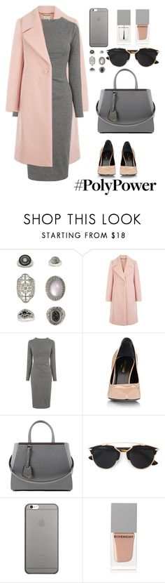 """""""ym"""" by skatery ❤ liked on Polyvore featuring Topshop, Hobbs, Whistles, Yves Saint Laurent, Fendi, Christian Dior, Native Union, Givenchy and PolyPower"""