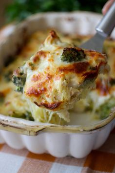 Chicken Broccoli & Cheese Spaghetti Squash Bake