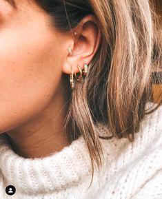 Opal Stud Earrings, Opal Lotus Flower Jewelry, October Birthstone Jewelry, Raw Fire Opal and Silver Flower Jewelry, Uncut Gemstone Studs - Fine Jewelry Ideas Cute Ear Piercings, Daith Piercing, Tragus, Bellybutton Piercings, Body Piercings, Peircings, Diy Jewelry Rings, Ear Jewelry, Cute Jewelry