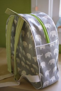 Adorable elephant toddler backpack to sew