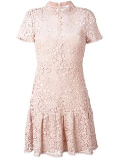 RED VALENTINO Macramé Mini Dress. #redvalentino #cloth #dress