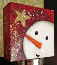 I love the colors and simplicity of this snowman