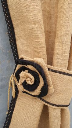 Set of two Burlap 38'' Curtains with grommets and by MadeInBurlap ...