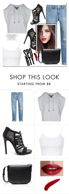 """Sporty"" by christinacastro830 ❤ liked on Polyvore featuring White House Black Market, adidas, Topshop, Mansur Gavriel and TheBalm"